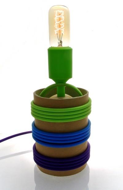 Lampa z tub kartonowych10.2