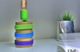 Lampa z tub kartonowych