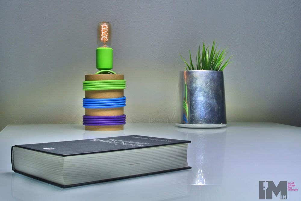 Lampa z tub kartonowych_4