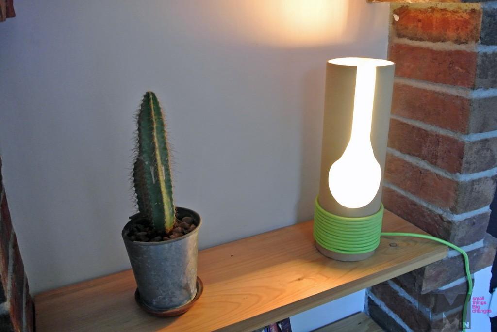 lampa z tuby kartonowej 1