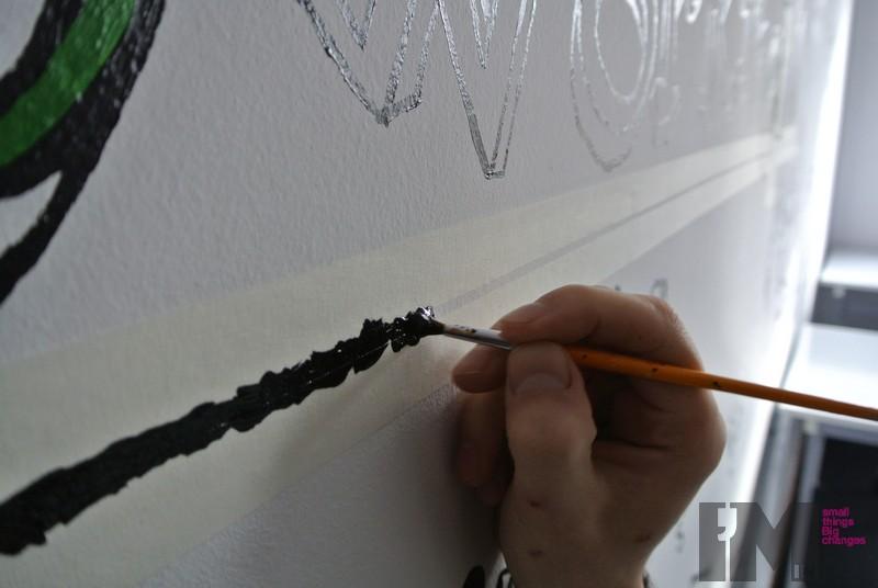 kreatywne malowanie na scianie 3