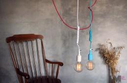Kolorowe kable, żarówki dekoracyjne, czyli design by imin