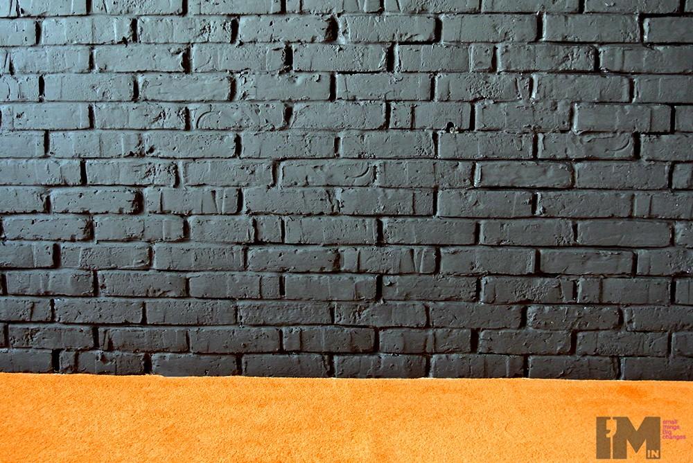 Czarna cegła dekoracyjna sypialnia loft imindesign2