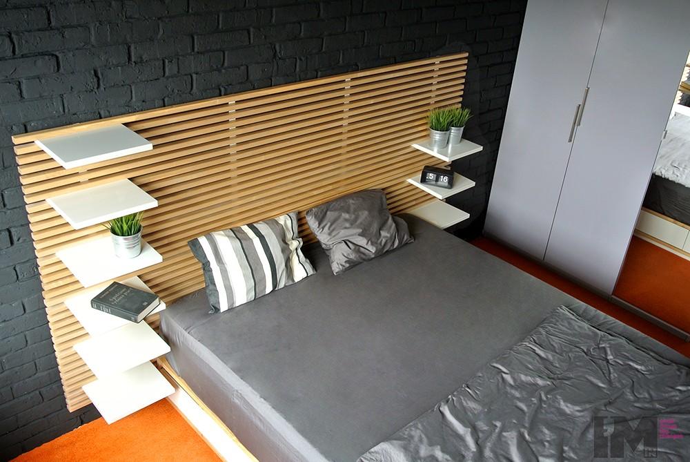 Czarna cegła dekoracyjna sypialnia loft imindesign3