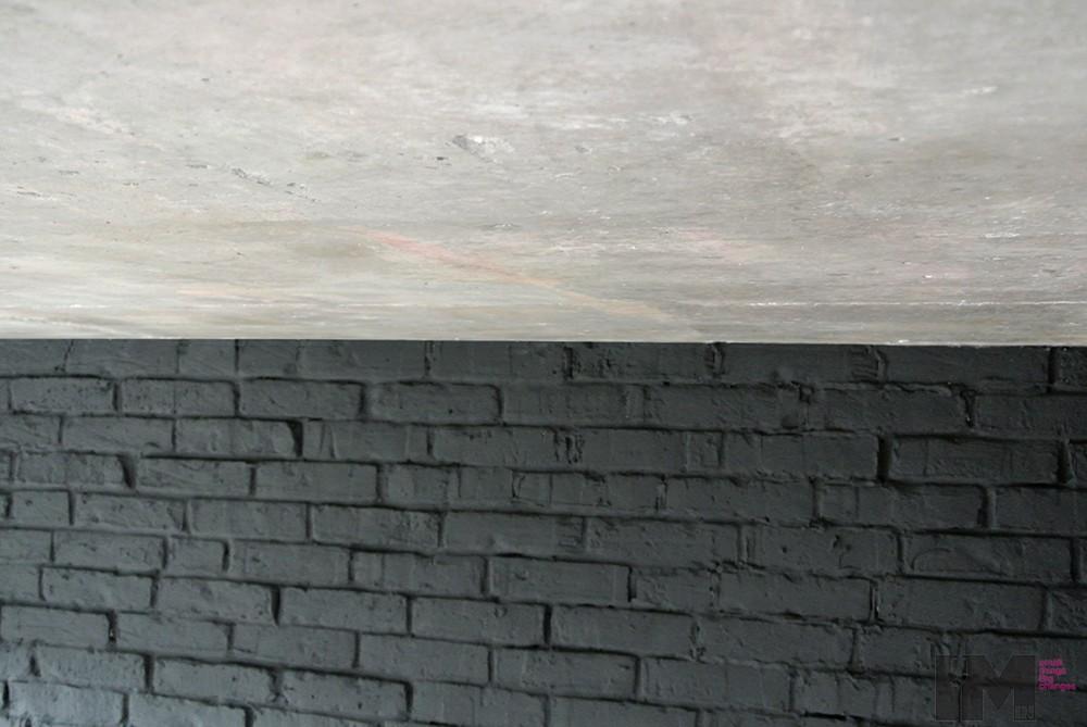 Czarna cegła dekoracyjna sypialnia loft imindesign6